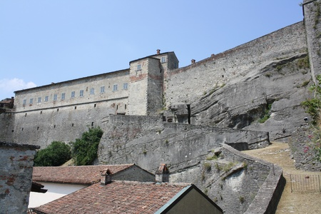 impervious: View of Gavi Fort  Alessandria Italy