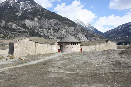 impervious: View of Fortress of Mont-Dauphin, Briancon, France Editorial