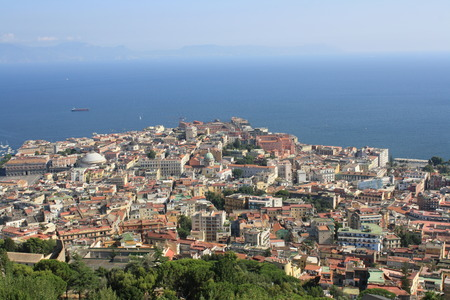Panoramic view of Naples in summer   Campania, Italy Stock Photo - 22478852