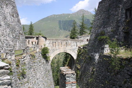 impervious: View of Fenestrelle Fort  Italy