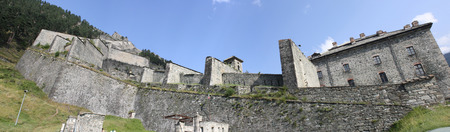 impervious: Panoramic view of Fenestrelle Fort, Fenestrelle, Turin, Italy
