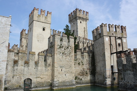impervious: View of Rocca Scaligera Castle,  Sirmione, Lake of Garda, Verona, Italy