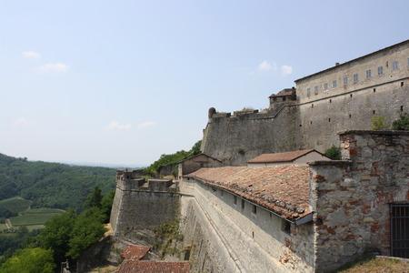 impervious: View of Gavi Fort, Gavi Ligure, Alessandria, Piedmont, Italy