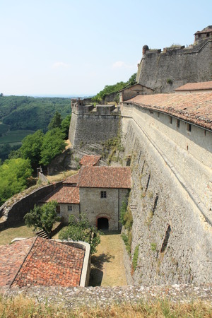 impervious: View of Gavi Fort  Gavi Ligure, Alessandria, Piedmont, Italy