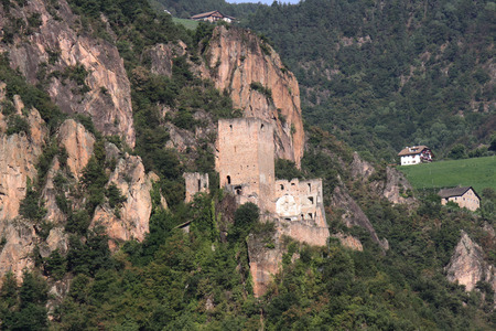 impervious: View of Neuhaus Castle,  Casanova Castle, Gais, Trentino Alto Adige, Italy   Editorial
