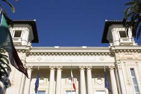 sanremo: Picture of the Municipal Casino of the city of Sanremo   Italy  Editorial
