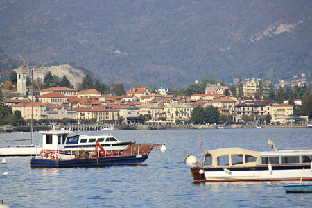 Some boats on Lago Maggiore in northern Italy