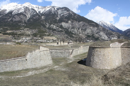 impervious: Fortress of Mont-Dauphin, Lunette D Arcon  Briancon, France   Editorial