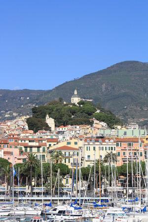 sanremo: View of Madonna della Costa Sanctuary  SanRemo, Italy