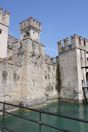 View of Scaliger Castle Castle (Lake of Garda, Sirmione, Verona, Italy) Editorial