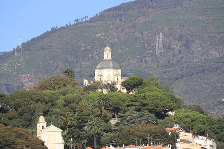 sanremo: View of Madonna della Costa Sanctuary San Remo Italy