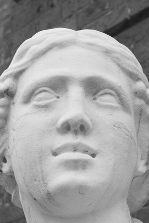 racconigi: Black and White picture of a lady statue