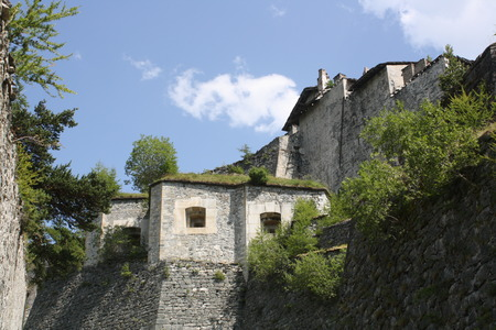 View of Fenestrelle Fort, Fenestrelle, Turin, Italy