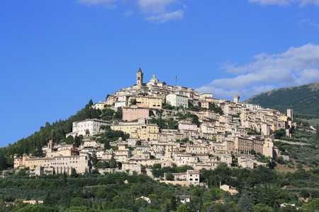 Trevi city in summer (Umbria, Italy)