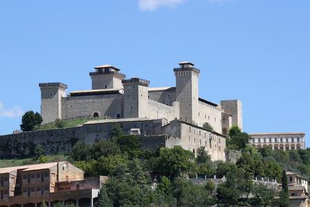 impervious: View of Albernoz Fortress (Spoleto, Umbria, Italy)