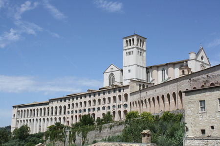 View of the Basilica of St. Francis of Assisi Umbria Italy