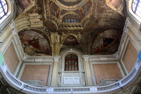 risorgimento: View of Interior of Carignano Palace in Turin, Italy