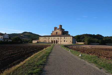 View of the Ducal Palace of Urbania (SantAnglo in Vado, Marche, Italy)