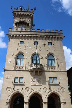View of Public Palace of San Marino Republic Editorial
