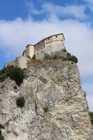 View of San Leo Fortress (San Leo, Rimini, Emilia Romagna, Italy) Editorial
