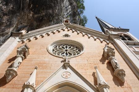 View of Madonna della Corona Sanctuary (Spiazzi, Monte Baldo, Verona, Veneto, Italy)
