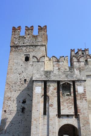 View of Rocca Scaligera Castle, (Lake of Garda, Sirmione, Verona, Italy)