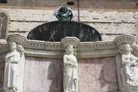 View of Fontana Maggiore in Perugia, Italy