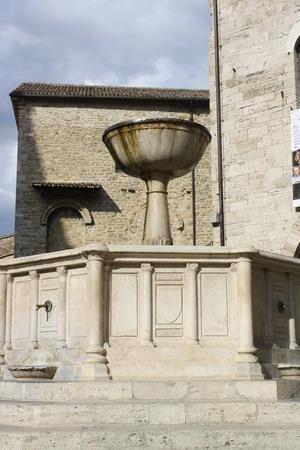 bevagna: Picture of Medieval Fountain in Bevagna (Perugia, Umbria, Italy)