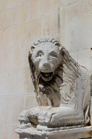 Lion Statues in Visso Village (Marche Italy)