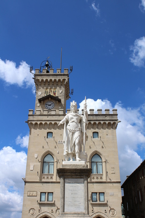 View of Public Palace of San Marino Republic Editorial