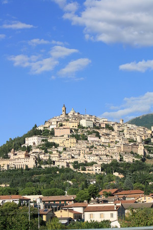 Trevi city in summer (Umbria, Italy)