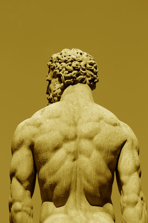Picture of a statue of a muscular man Stock Photo