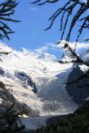 Bernina Glacier in the Alps (Switzerland)