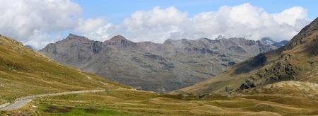 Panoramic view of Stelvio National Park (Nationalpark Stilfser Joch, Trentino Alto Adige, Lombardy, Italy)