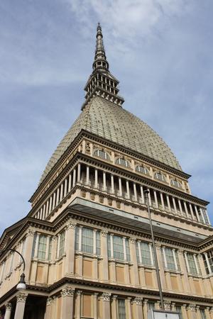 A view of the Mole Antonelliana (Piedmont, Turin, Italy) Stock Photo