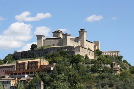 View of Albernoz Fortress (Spoleto, Umbria, Italy)