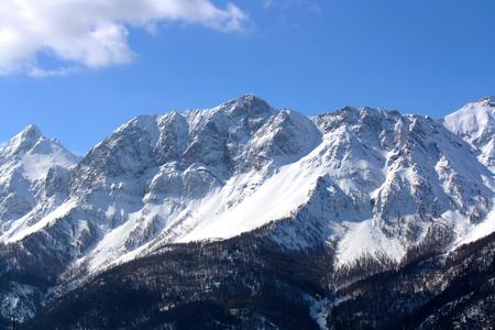 View of Susa Valley Mountains (Bardonecchia Italy)