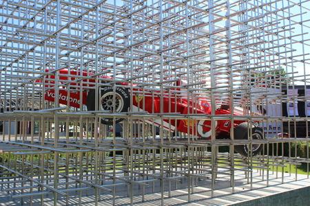 MARANELLO, ITALY - AUGUST 24, 2016: Classic Ferrari Formula one exhibited in front of the Ferrari Museum