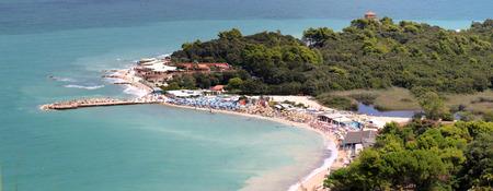 The bay of Portonovo in the Conero coast (Ancona, Marche, Italy) Stock Photo