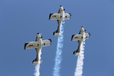 Turin, Italy - July 3, 2016: Italian demoteam at Turin airshow, Texan 2.0
