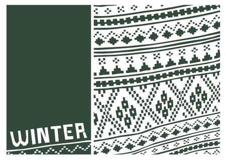 tirol: Wintertime pattern  Design for winter scenes  Shapes and colors to inspire winter season  Illustration