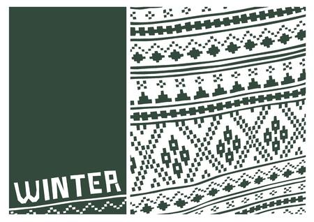 winter scenes: Wintertime pattern  Design for winter scenes  Shapes and colors to inspire winter season  Illustration