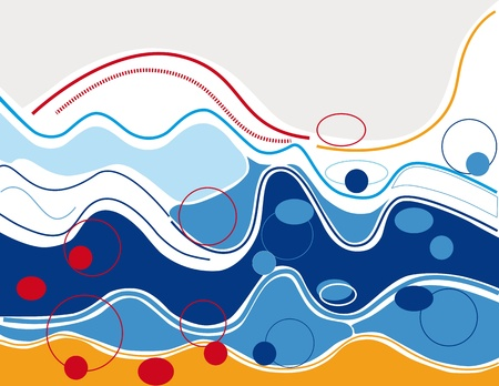 big waves: Rough sea, big waves and beach.
