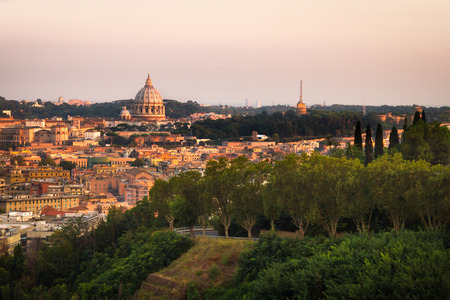 Lanscape of Rome From Monte Mario, Visible the Vatica and St. Peter's Basilica