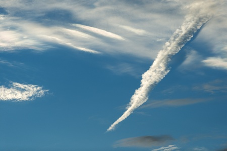 Cloud Formation against a blue sky Stock Photo