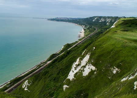 Kent coastline between Dover and Folkestone