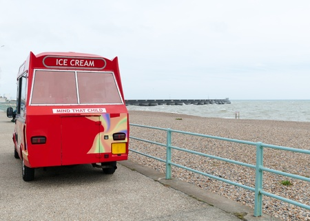 British Ice Cream Van on Brighton Seafront
