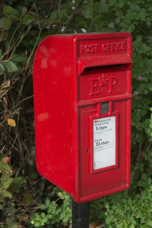 Classic British red post box
