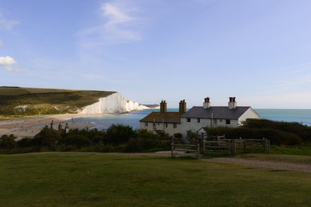 coastguard: Seaside cottages with fantastic views over the seven sisters cliffs in East Sussex