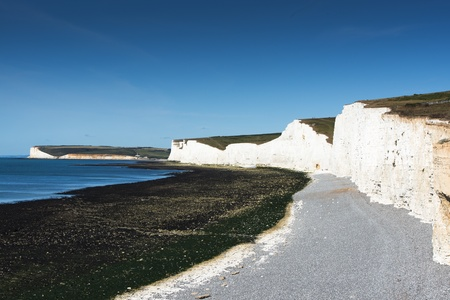 seven sisters: View along the seven sisters coastline Stock Photo